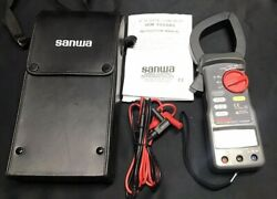 Sanwa Dcm2000ad 2000 A Ac / Dc Clamp Meter With Case And Leads
