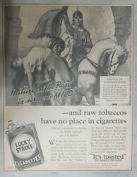 Lucky Strike Ad Constantinople By Thomas Webb From 1932 Size 12 X 15 Inches