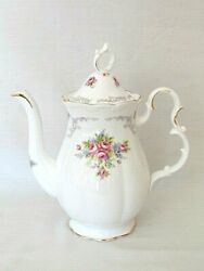 Royal Albert Tranquillity Coffee Pot. Bone China. Made In England. Mint New