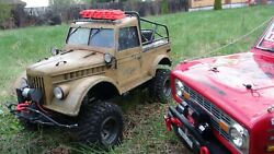 Rc Russian Old Jeep Gaz 69 Rtr Hand Made Body Exclusive Trophy Car