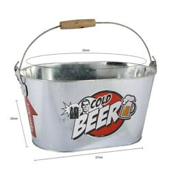 Beer Cooling Bucket With Bottle Opener Drink Holder Container Ice Cooler