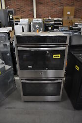 Ge Pt7550sfss 30 Stainless Double Electric Wall Oven 41745 Cln