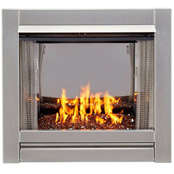 Duluth Forge Df450ss-g-rco Vent Free Stainless Outdoor Gas Fireplace Insert
