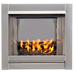 Duluth Forge Df450ss-g-rblk Vent Free Stainless Outdoor Gas Fireplace Insert