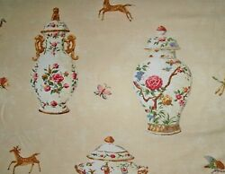 Travers Cuthbert Hall Porcelain Vases Tureens Teapots Fabric 8 Yards Cream Red