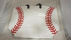 Oversized 23#x27;#x27; Baseball Canvas Cotton Sports Tote Bag Beach Totes Shoulder Bags $15.67