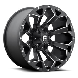 4 22x12 Fuel Black And Mill Assault Wheels 8x170 For 2003-2019 F250 F350 2-4wd