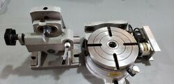 Cnc 4th Axis Rotary Table Horizontal / Vertical 8 Inch With Tailstock