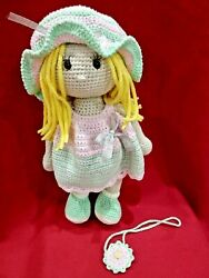 Knitted Toy Doll Handmade Amigurumi. Collectibles Great Gift.
