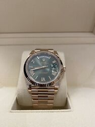 Rolex Day-Date 40 Rose Gold Olive Dial New With Tags