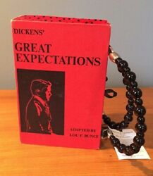 Great Expectations Book Cover Purse Handmade Wood Handles Rebound Designs NWT