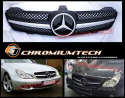 Black/chrome Grille For 2004-2008 Pre-facelift Mercedes Cls Class W219 Sl Look