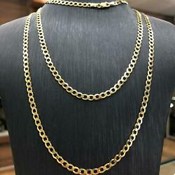 Curb Chain Bracelet Necklace 9ct 375 Yellow Solid Gold 4mm All Sizes Brand New