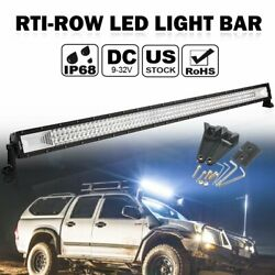 52inch 3000w Led Light Bar Flood Spot Offroad Driving Lamp For Jeep Suv Boat