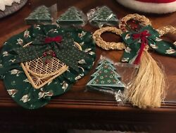 Country Style Christmas Decorations 2 Pieces Hand Made,4 Wood