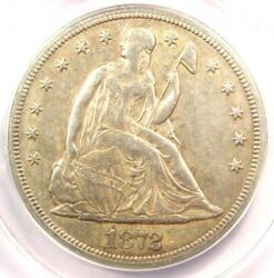 1872-s Seated Liberty Silver Dollar 1 Coin - Anacs Au50 Details - Rare Date