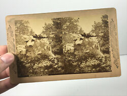 Antique Monument Park Colorado CO stereoscope stereocard stereoview