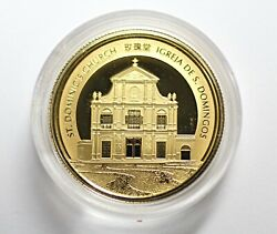 2017 Macau Rooster 1/4 Oz 999.9 Fine Gold Proof Colour Coin