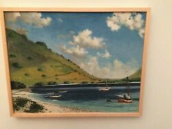 Ralph Carpentier, Oil On Canvas, Sailing In The Bay, 1971, Long Island, Seascape