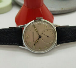Rare 1940's Ww Ii Jaeger-lecoultre Silver Dial Military Man's Watch