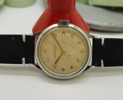 Rare 1940's Ww Ii Jaeger-lecoultre Silver Dial Manual Wind Military Man's Watch
