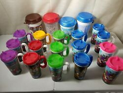 Disney World Parks 16 Rapid Refill Cups And 5 Popcorn Bucket Lot Of 21