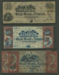 Newark Nj 1864 4 Diff Obsolete Bank Notes Contemporary Reprints Bv579