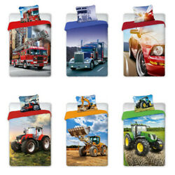 Youth Bed Cover Turbo Truck Fire Engine Bagger Tractor 55 1/8x78 11/16in