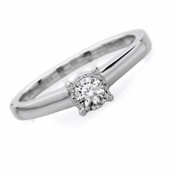 1/5ct Natural Diamond Illusion Solitaire Engagement Ring In 10k Solid Gold -igi-