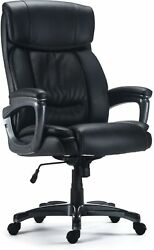 Staples Lockland Bonded Leather Big And Tall Managers Chair Black 53235 58067