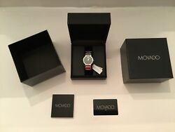Movado Valor Swiss Made Tungsten Carbide Sapphire Crystal Watch New Mens 710205