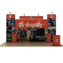 20ft Portable Fabric Tradeshow Display Booth Exhibits Pop Up Stand Backdrop Wall