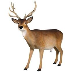 Design Toscano Forest White Tailed Buck Male Deer Statue