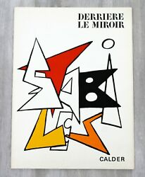 Mid Century Modern Calder Stabiles Paper Art Book Suite Of 8 Lithographs 1970s
