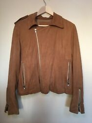 Intuition Paris Genuine Lambskin Leather Sued Womens Jacket On Sale Limited Time