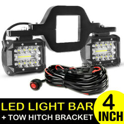Tow Hitch Mounting Bracket+3-row Led Work Light Pods Backup Reverse 4''for Truck