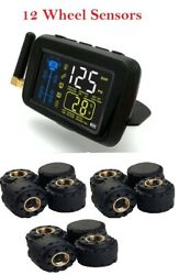 Sykik-tpms 12wheel Real Time Tire Pressure Monitoring System Forrvs Andtrucks12