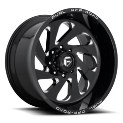 4 20x12 Fuel Gloss Black And Milled Vortex Wheels 8x170 For 03-09 Ford F250 F350