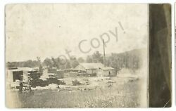 Rppc Early Industrial Mill At Shinglehouse Pa Potter County Real Photo Postcard