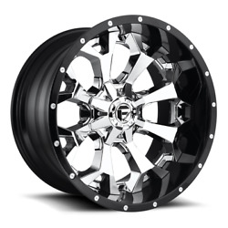4 20x10 Fuel Chrome W/ Gloss Black Lip Assault Wheel 8x170 For 03-09 F250 F350