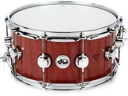 Dw Collector's Purpleheart Wood Snare Drum - 6.5 X 14 Chrome