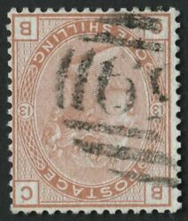 Sg151wi 1/- Orange Brown Plate 13 Watermark Inverted Fine Used And Rare