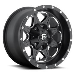4 20x9 Fuel Matte Black And Mill Boost Wheel 5x114.3 5x127 For Ford Jeep Gm