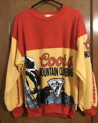 Vintage Coors Mountain Climbing Ascent Team Sweatshirt 1980s All Over Print