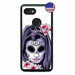 Google Pixel 3 XL 2XL Cute Babe Sugar Skull Cell Phone Case Katrina Custom Cover $15.98