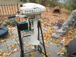 Vintage 3.5 Hp Mcculloch Outboard Motor  1960's
