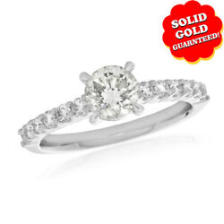 1.00 Ct Round Cut D/vvs1 18k White Gold Solitaire Engagement Ring