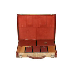 Authentic Hermes Vintage Leather Travel Grooming Set With Toiletry Accessories