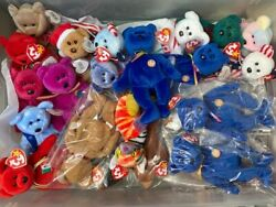 Beanie Babies Lot Huge Over 500 15 16 Containers