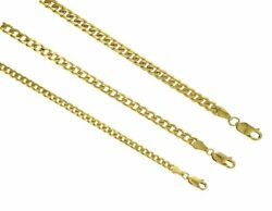 14k Solid Gold Miami Cuban Link Chain Necklace 3.5mm-5mm Size 7-30 Inches